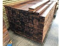 🐌 Feather Edge Pressure Treated Brown Wooden Fencing Panels/Pieces/ Boards
