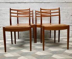 Vintage G Plan Teak Dining Chairs Vinyl #605