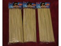3 x 300 BBQ Bamboo Skewers Brand New in Packaging
