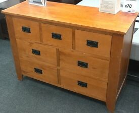 7 drawer wooden chest of drawers - British Heart Foundation