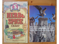 Vintage Schwartz herb & spice chart and promotional leaflet for cinnamon. £2 for both.