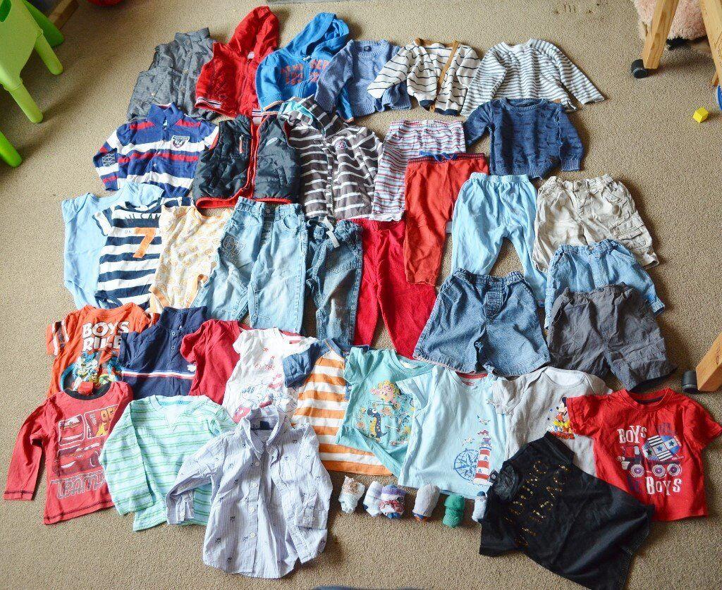 c4450d719959 Baby boy bundle clothes 18-24 months trousers, jumpers, vests tops shorts