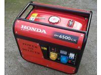 Honda generator. .6.5 kva...