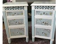 PAIR OF SHABBY CHIC BEDSIDE DRAWERS