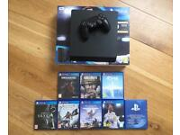PS4 Slim 500G and 7 games