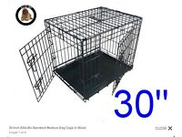 "30"" small black dog cage"
