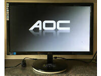 20 inch Widescreen AOC e2043f 19 LED TFT Flat screen Monitor