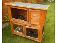 2-tier rabbit hutch and cover