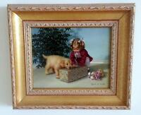 """NEW PRICE! """"The Gift"""" - Mary G. Smith Original Painting"""