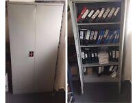 Working Used Steel Cupboard (46cm x 92cm x 183 cm) Almirah 3 Shelves (39cm x 91cm)