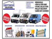REMOVALS - MAN & LUTON VAN - HOUSE MOVING - CHEAP RATE - STORAGE - RUBBISH CLEARANCE - IKEA DELIVERY