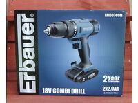 Brand new Erbauer 18v combi drill