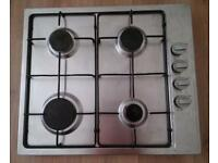 Gas Hob with electric ignition.