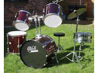 Red Oldfield 5 Piece Starter drum kit