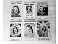 DEANNA DURBIN UNIVERSAL OUTLOOK MAGAZINE. FULL SET OF SIX. RARE, 1940 & 1941. OFFERS CONSIDERED