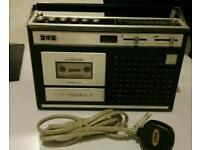 Vintage GCE Radio cassette player