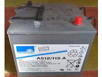 4x Exide Sonnenschein Gel Lead/Acid Batteries A512/115 12v for sale  Kemnay, Aberdeenshire