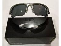 Oakley - Fast Jacket Polarized Unisex sunglasses - Frame: Polished White - Lens G30