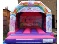 UNICORN BOUNCY CASTLE for hire / Popcorn & Candy Floss / Hot Dogs + more / Essex & London