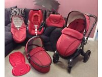 Egg stroller Maxi Cosi Cabriofix car seat Pram Carrycot Footmuff Changing bag Parasol Travel System