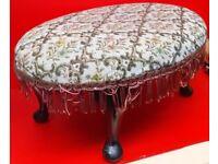 Vintage Oval Footstool