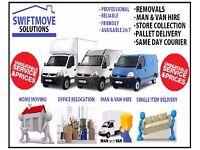 Removals - Man & Luton van hire - £15/PH - STORAGE - IKEA - EBAY - GUMTREE DELIVERY - RUBBISH CLEAR