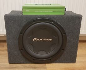 CAR ACTIVE SUBWOOFER PIONEER 1200 WATT 12 INCH BASS BOX WITH FUSION AMPLIFIER SUB WOOFER AMP