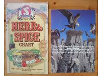 VINTAGE SCHWARTZ: herb & spice chart and promotional leaflet for cinnamon. £2 for both