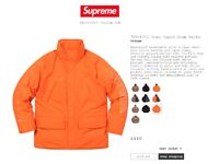 Supreme 700-Fill Down Taped Seam Parka Coat - Orange - Medium