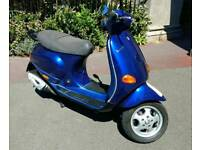 2003 Vespa ET4 50cc. 37mph. MoT March 19. Learner. Deliveroo? Uber eats?