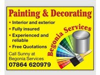 EXPERIENCED PAINTER & DECORATOR - RELIABLE & FULLY INSURED - COMPETITIVE PRICING