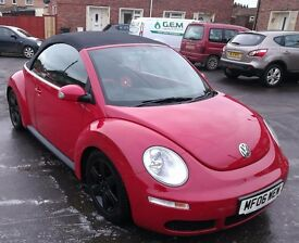 VW Convertible Beetle 1.4 petrol. 70580 miles. Full service history, last serviced at 68550 miles.