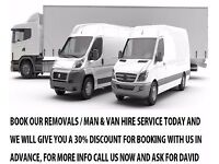 Removals Man & Luton van hire Assembly Transportation Courier Piano Mover Deliveries House Clearance
