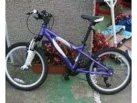 Carrera Luna 20. Kids Mountain Bike - Purple - 21gears - As new .