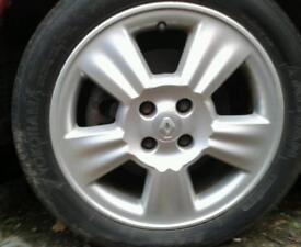 RENAULT MEGANE ALLOY WHEELS X 4 WITH 195 / 50 R16 TYRES EXCELLENT CONDITION
