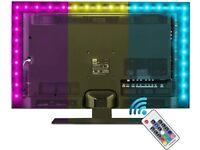 LED Strip Lights with Remote 2M, LED TV Backlight 6.6ft for 40-60 Inch HDTV