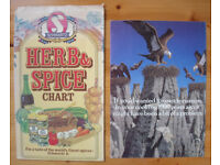 VINTAGE SCHWARTZ: herb & spice chart and promotional leaflet for cinnamon. £2 for both.