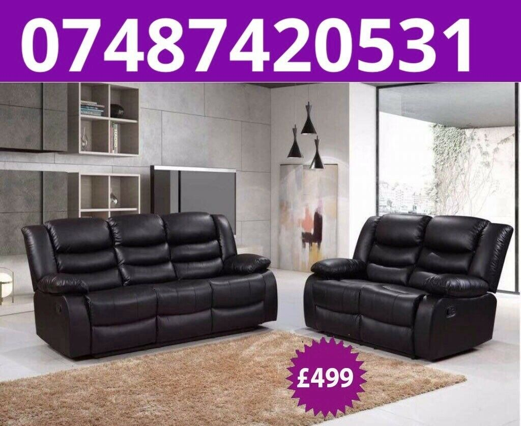 Cool Sale 3 2 Leather Recliner Sofa 499 In Salford Manchester Gumtree Inzonedesignstudio Interior Chair Design Inzonedesignstudiocom