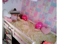 Used white childs single captain bed