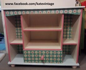 colorful hand decorated tv stand unit
