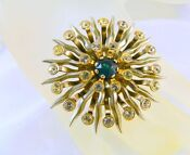 Large Clear Rhinestone Brooch