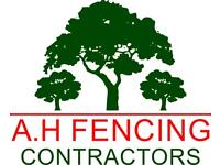 A.H FENCING CONTRACTORS CALL FOR FREE QUOTATION