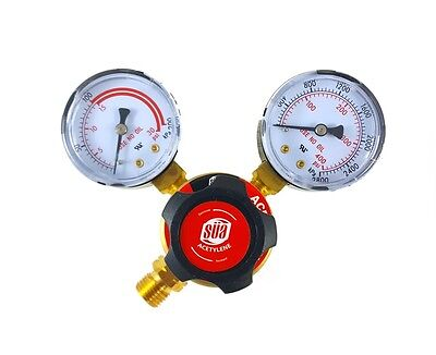 Sa - Acetylene Regulator Welding Gas Gauges - Cga-200 - Rear Connector - Ldp
