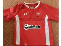 Baby Wales Underarmour Rugby Shirt.18-24mths as new.
