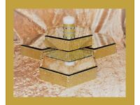 Wedding Table Decoration Centre Pieces Hexagon Mirror Candle Flower Display Candelabra Plates Stands
