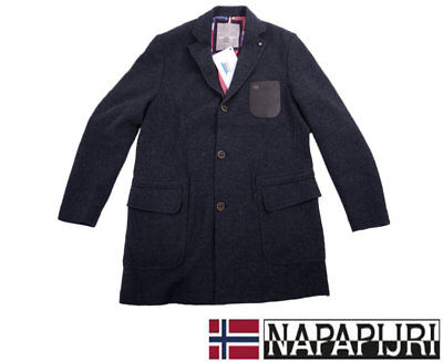 NAPAPIJRI Geographic Mens Trench Coat Jacket Size XXL Winter Outwear fashion