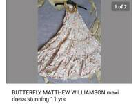 Gorgeous butterfly by Matthew Williamson maxi dress 11yrs