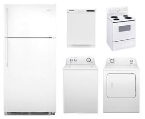 full set of appliances - white