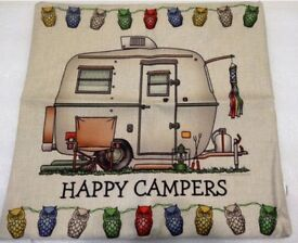 Happy Camper Cushion Covers