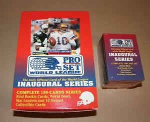 1991 Pro Set World League Football Unopened set